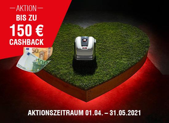 Bis zu 150 € Cashback-Prämie erhalten | AL-KO Aktion Robolinho Cashback