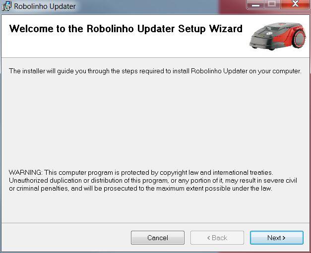 Mähroboter | AL-KO Robolinho® Autoupdater - Schritt 1: Auto-Updater Setup