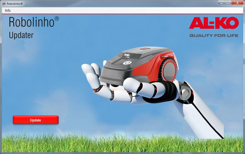 Mähroboter | AL-KO Robolinho® Autoupdater - Schritt 11: Robolinho® Auto-Updater aufrufen und auf