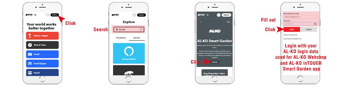 AL-KO Smart Gardening with IFTTT | connect your AL-KO user account