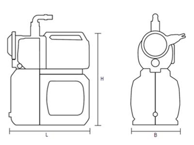 Wasserpumpen | AL-KO Hauswasserwerk Maße