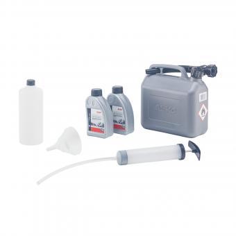 AL-KO Starter-Set für Benzinrasenmäher (bestehend aus 1 x 5 l Benzinkanister, 1 x Motor-Öl-Service-Set, 2 x Motor-Öl)